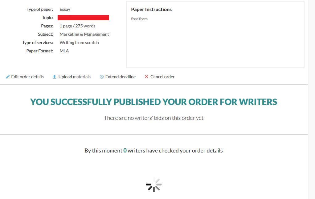 Your paper details