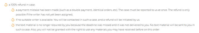 A full refund cases