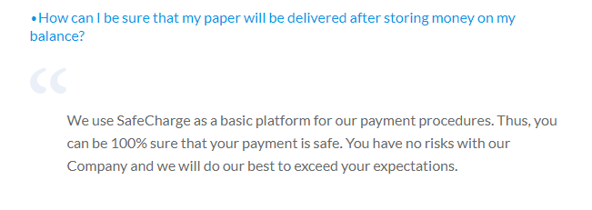Payment safety guarantee