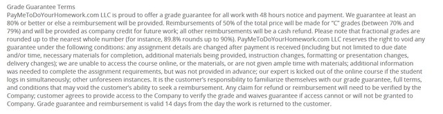 Grade guarantee from Paymetodoyourhomework