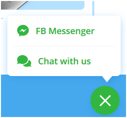 FB Messenger and Live chat screenshot