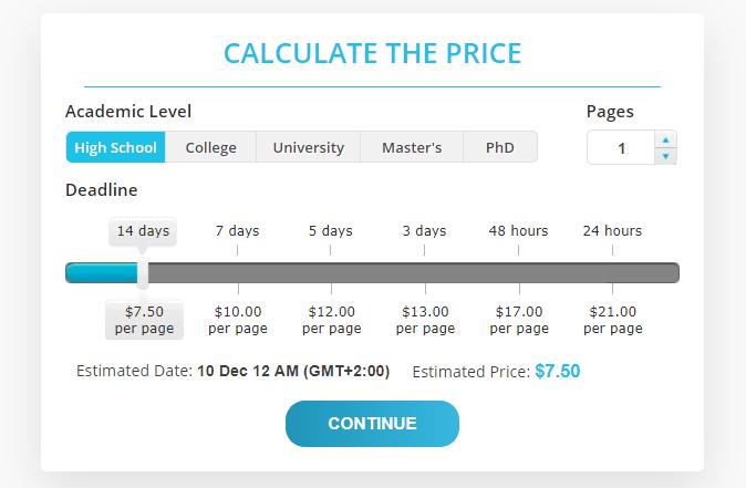 Prices Source: essayoneday.com