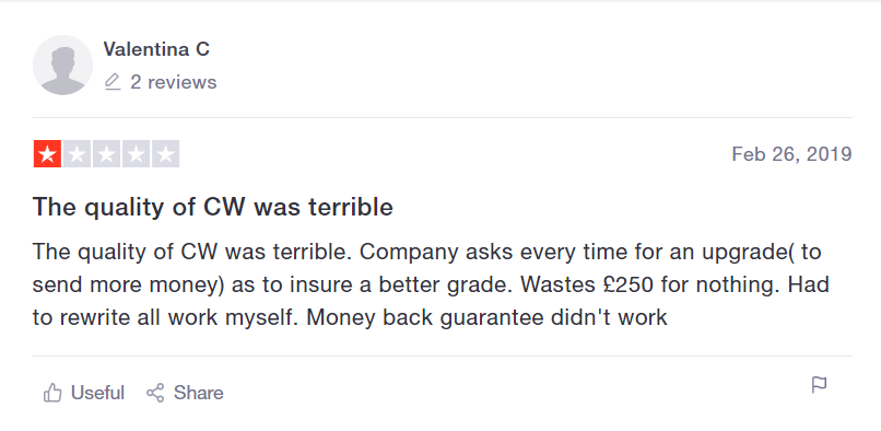1-star review