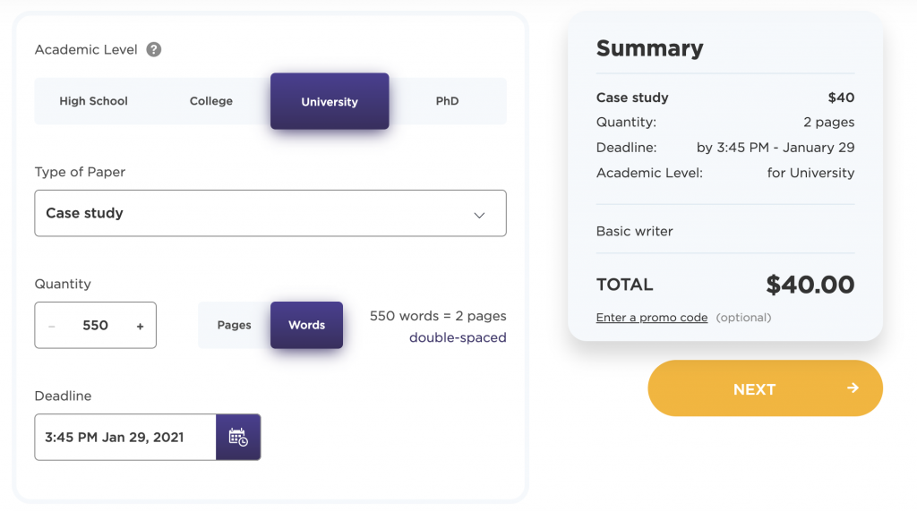 Price calculator on Cheap Paper Writing