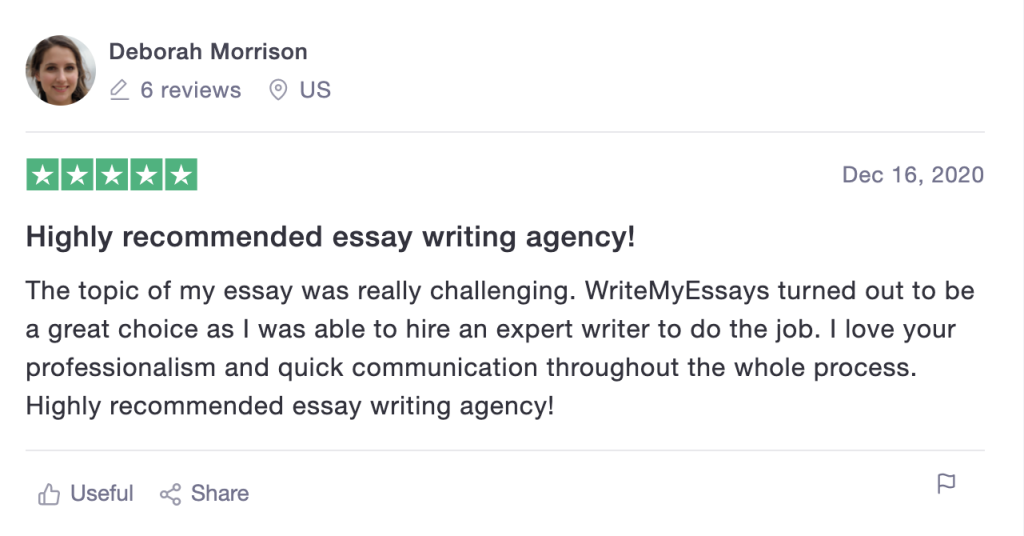 Write My Essays review on TrustPilot (2)