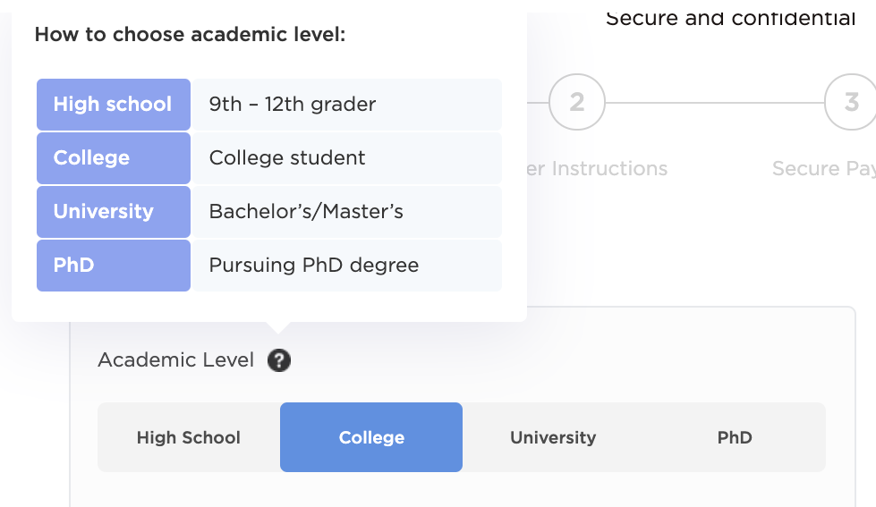 How to choose academic level