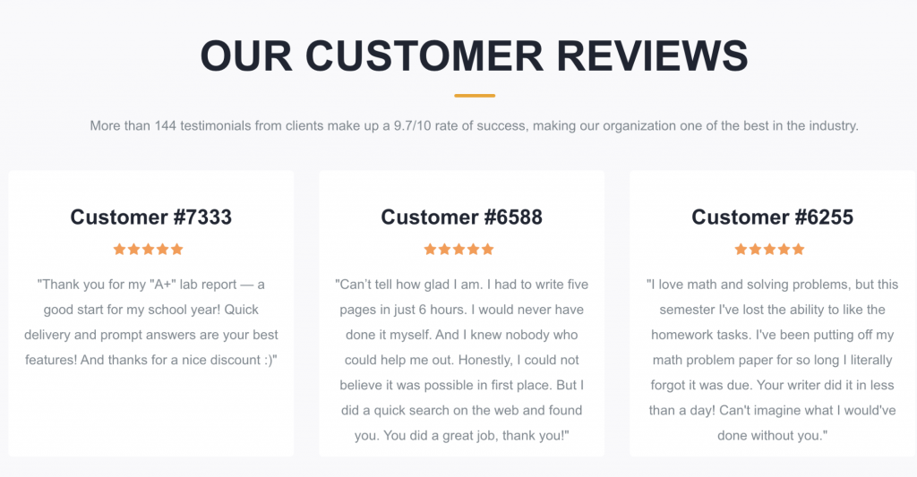 Customer reviews on Wise Essay