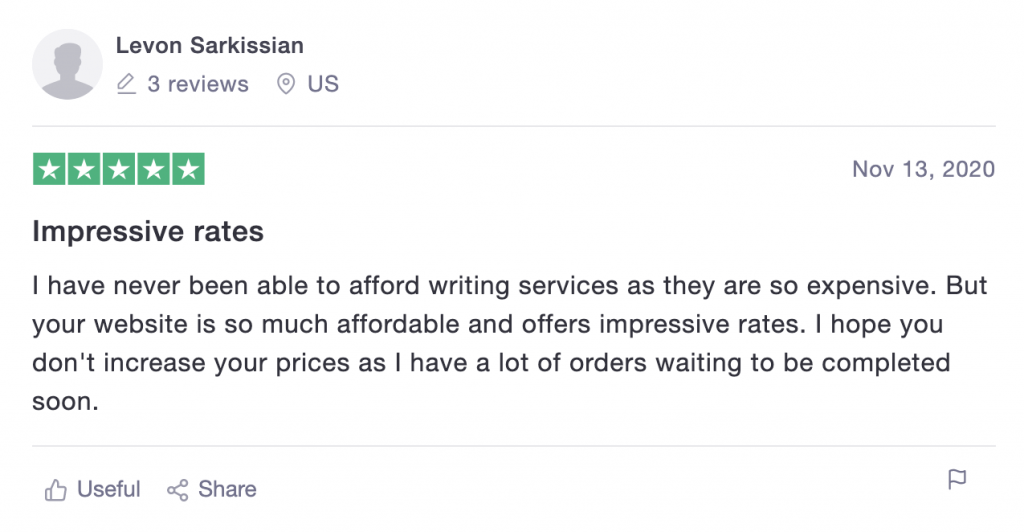 Cheap Paper Writing review on TrustPilot-2