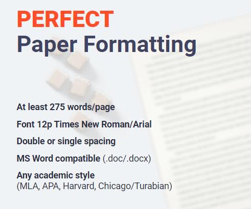 Paper Formatting
