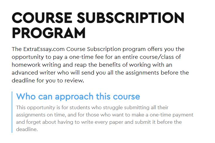 Course Subscription Program