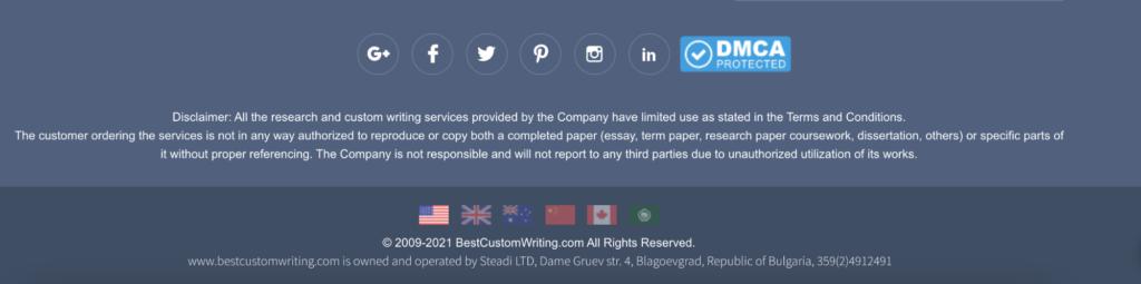 Best Custom Writing is operated by Steadi LTD