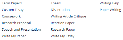 Some of the writing services offered by Power-Essays