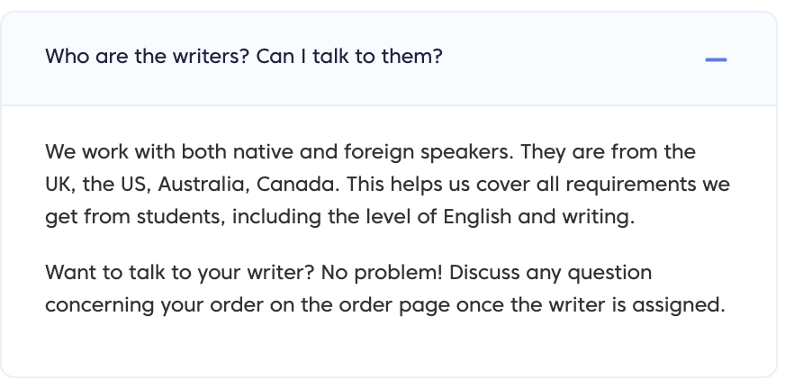 Information about the writers from FAQ