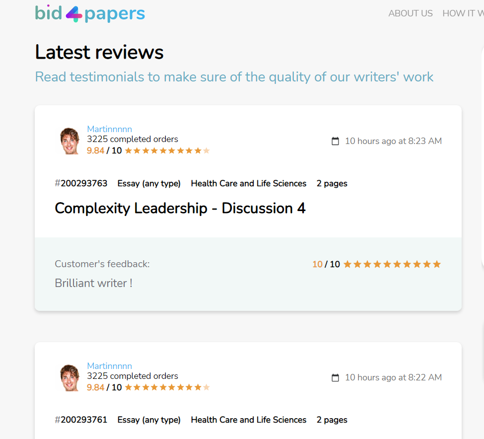 Latest reviews published on the site