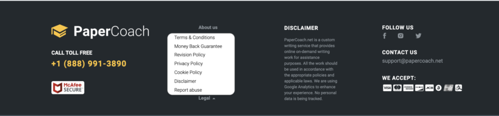 The documents on PaperCoach.co