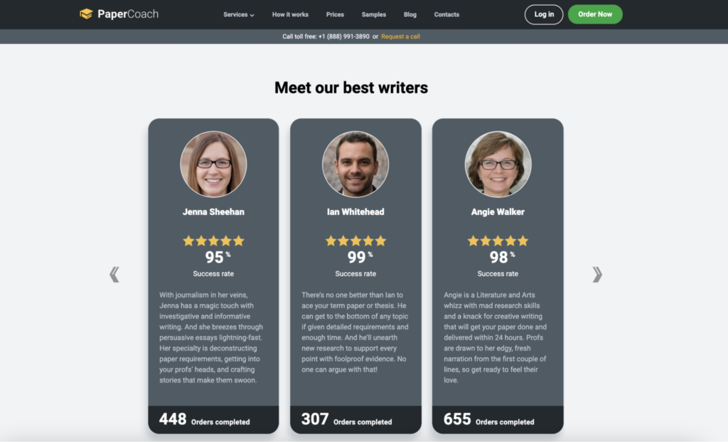 Best writers on PaperCoach.co