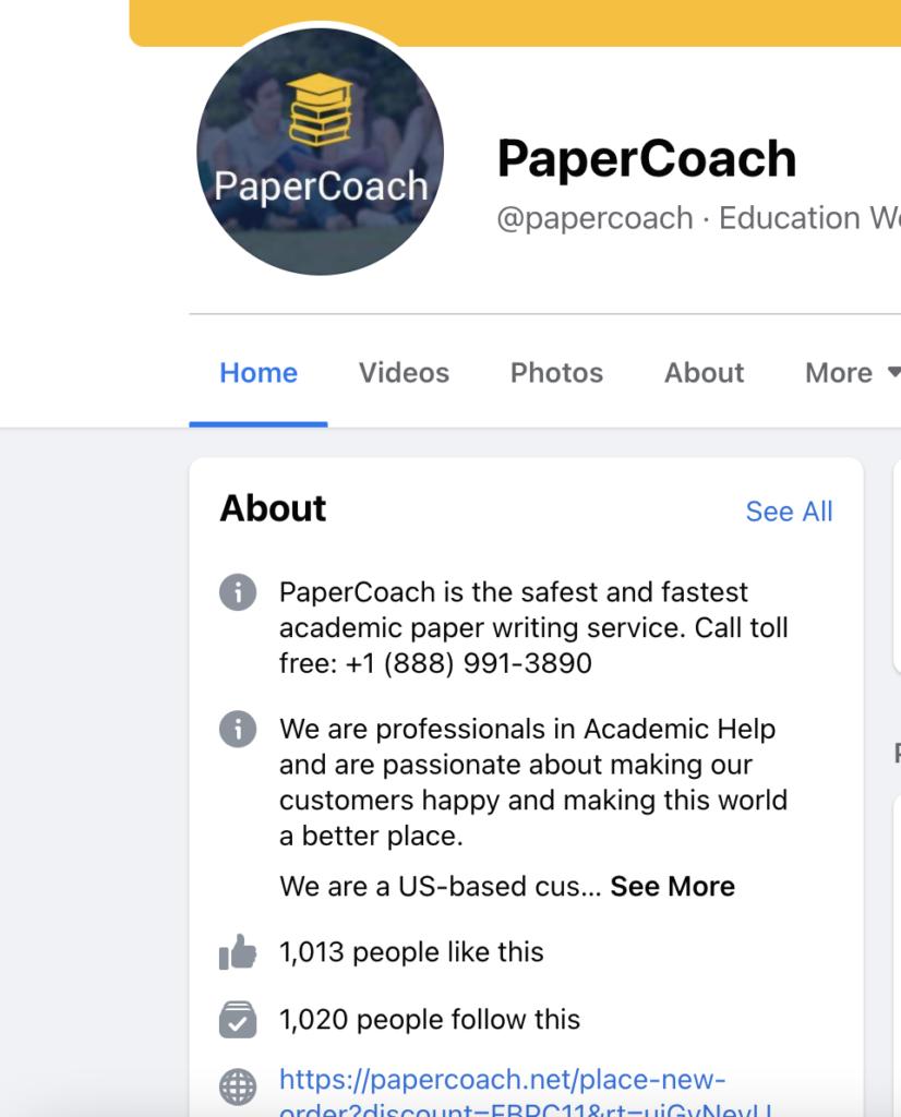 Paper Coach on Facebook