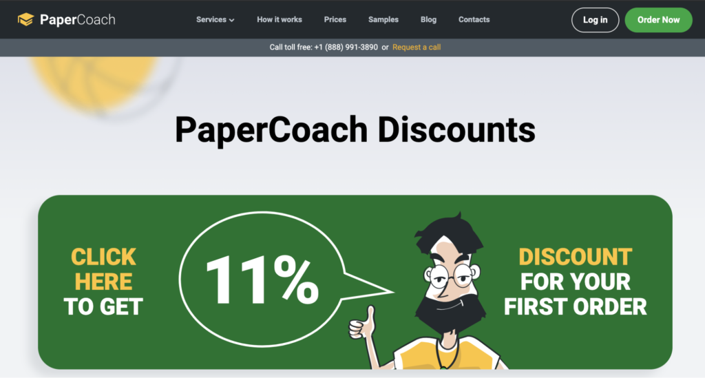 The PaperCoach discounts