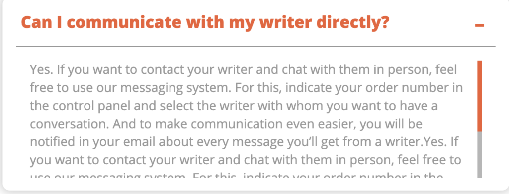 Can I communicate with my writer directly?